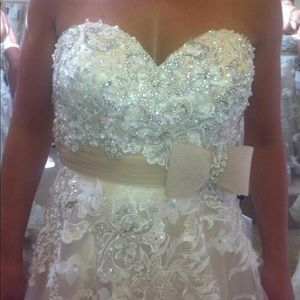 Jovani Dresses - Size 8 jovani wedding dress with head piece
